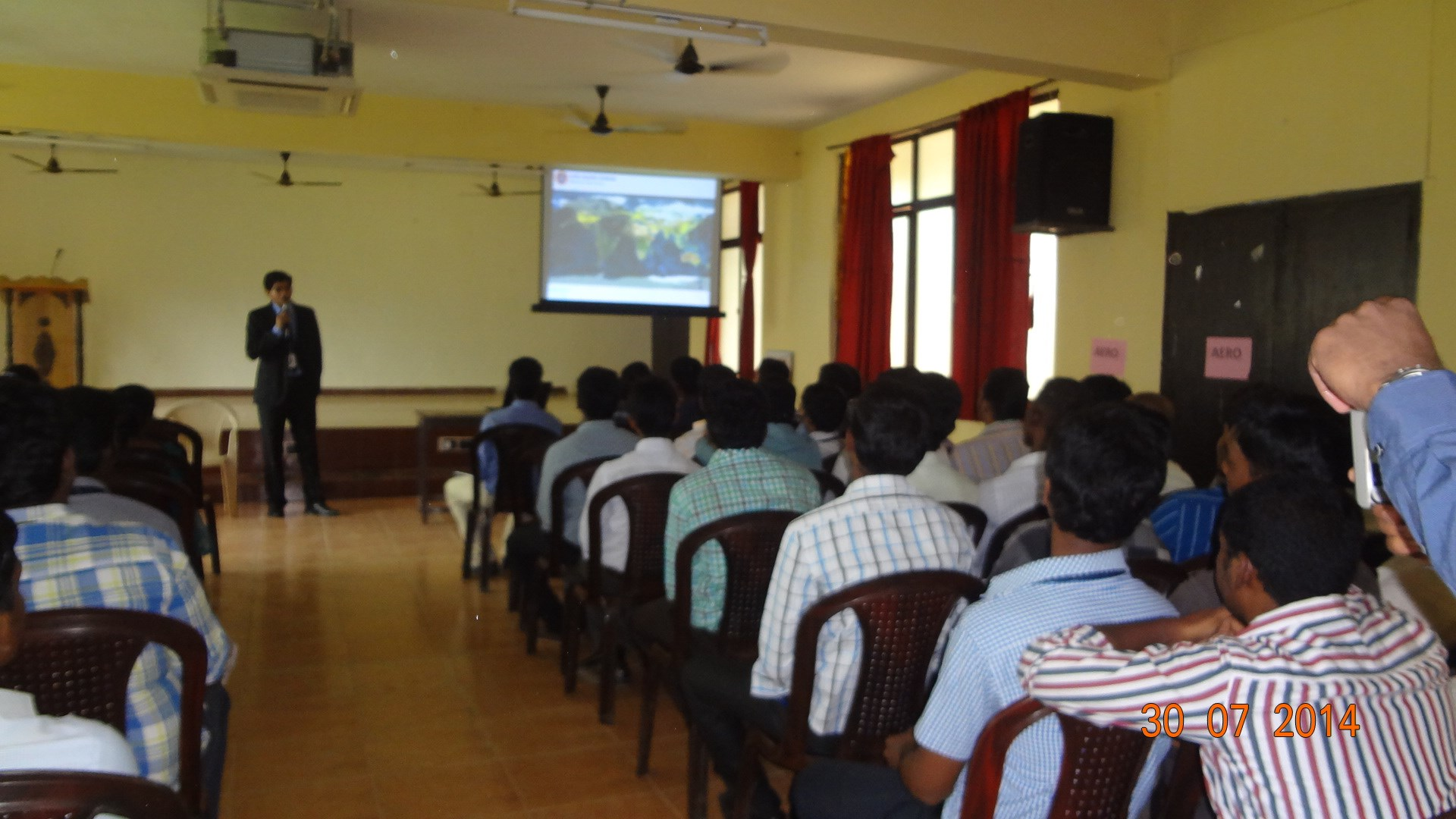 avel flight school career awareness presentation at gojan school of