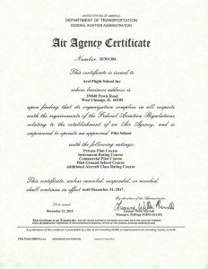 Air Agency Certificate 2015