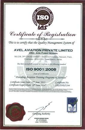ISO Certification - Avel Flight School