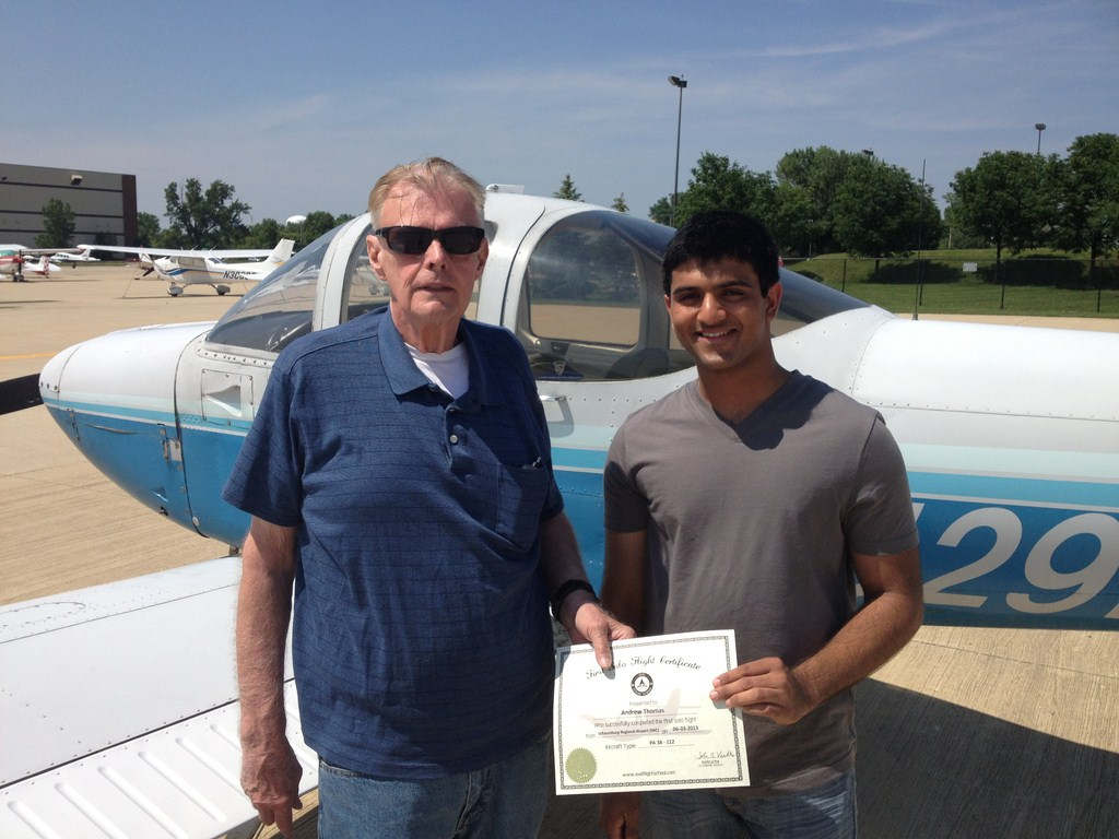 Andrew's First Solo Flight Certificate